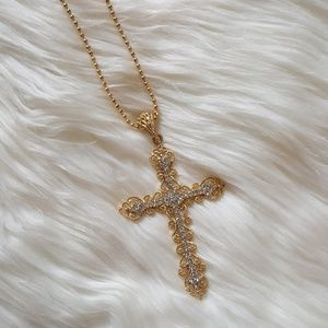 New Stunning Oversized Cross Necklace!